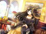 black_hair blue_eyes dress kagura_hikari long_hair shoujo_kageki_revue_starlight smile veil