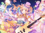 bang_dream! blonde_hair blush dress long_hair shirasagi_chisato smile twintails violet_eyes