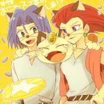 animal_ears atsumi_yoshioka cat_ears kojirou_(pokemon) lowres meowth musashi_(pokemon) pokemon pokemon_(anime) team_rocket