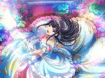 dress long_hair purple_hair roses shoujo_kageki_revue_starlight smile tsuyuzaki_mahiru violet_eyes