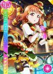 blush character_name dress love_live!_school_idol_festival love_live!_sunshine!! orange_hair red_eyes short_hair steampunk takami_chika