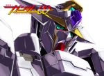 azel_(horusuke) commentary_request copyright_name english_text green_eyes gundam gundam_00 logo mecha no_humans portrait reborns_gundam shiny