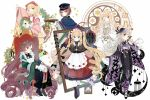 6+girls black_gloves blonde_hair blue_eyes book boots bow brown_hair chair dress gloves gothic_lolita green_bow green_eyes green_hair hat heterochromia highres hina_ichigo japanese_clothes kanaria kimono kirakishou lolita_fashion long_hair looking_at_viewer multiple_girls peaked_cap red_eyes rozen_maiden shinku silver_hair souseiseki suigintou suiseiseki twintails very_long_hair yellow_eyes yukata