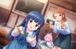 blush dress idolmaster_cinderella_girls_starlight_stage long_hair purple_hair red_eyes sajou_yukimi smile