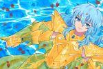 anon_(artist) armor blue_hair mole pisces_aphrodite saint_seiya water