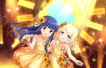 blush dress idolmaster_cinderella_girls_starlight_stage kozue_yusa long_hair purple_hair red_eyes sajou_yukimi smile