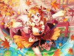 autumn bang_dream! blush dress kitazawa_hagumi orange_hair red_eyes short_hair smile