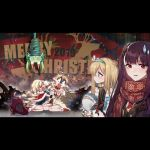 5girls alternate_costume art556_(girls_frontline) christmas colt_m1873_(girls_frontline) cowboy_hat crying dizzy_(feeling) english_text girls_frontline hat hug multiple_girls official_art rfb_(girls_frontline) scarf snot snot_trail spoilers suomi_kp31_(girls_frontline) surprised upside-down wa2000_(girls_frontline)