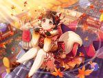 autumn bang_dream! black_hair blush dress red_eyes short_hair smile ushigome_rimi