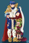 1boy 1girl blue_hair chiki_(fire_emblem) fire_emblem green_hair marth marth_(fire_emblem) tiki tiki_(fire_emblem)