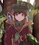 1boy coat crown fur_hat gloves green_eyes hat holding holding_staff jacket kyle_broflovski male_focus redhead short_hair solo south_park south_park:_the_stick_of_truth staff tree ushanka
