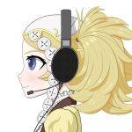 1girl blonde_hair blue_eyes fire_emblem fire_emblem:_awakening fire_emblem:_kakusei headphones headset lissa_(fire_emblem) pigtails profile sennheiser smile