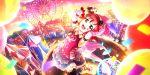 blush circus dress green_eyes jester_cap kurosawa_ruby love_live!_school_idol_festival_all_stars pink_hair short_hair smile