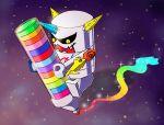 digimon horns milky_way no_humans omekamon pencil plust-suke solo star_(sky) toy