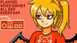 english_text flandre_scarlet pixel_art tagme touhou