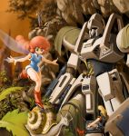 dorasu fairy fanneria_amu forest heavy_metal_l-gaim kyao_mirao l-gaim lilith_fau lilith_fuau mecha nature snail