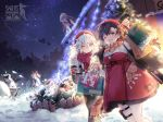 >_< 6+girls @_@ alternate_costume bag bangs black_hair blush braid breasts caws_(girls_frontline) christmas christmas_lights christmas_ornaments christmas_tree coat covering_head cup dress earmuffs gepard_m1_(girls_frontline) girls_frontline glasses gloves grey_hair hair_between_eyes hair_ornament hair_over_one_eye hairclip hat highres hk21_(girls_frontline) holding holding_bag holding_cup jewelry large_breasts lewis_(girls_frontline) long_hair long_sleeves looking_at_viewer lwmmg_(girls_frontline) medium_breasts multiple_girls necklace official_art open_mouth pants pantyhose plaid plaid_scarf red_scarf scarf shopping_bag short_hair shovel sidelocks skirt smile snow snowing snowman thigh_strap twin_braids twintails type_100_(girls_frontline)