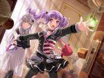 bang_dream! blush dress long_hair purple_hair red_eyes twintails udagawa_ako