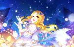 blonde_hair blush christmas dress idolmaster_cinderella_girls_starlight_stage long_hair mochizuki_hijiri red_eyes smile