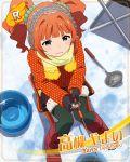 blue_eyes blush character_name idolmaster_million_live!_theater_days jacket long_hair orange_hair takatsuki_yayoi twintails