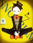 bizu black_hair demon demon_boy loli loli_boy red_eyes snobbism suit tail tuxedo