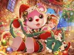 bang_dream! bear christmas mascot okusawa_misaki smile