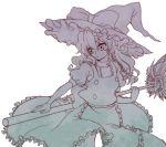 broom hat kirisame_marisa long_hair touhou witch_hat yonko