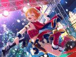 bang_dream! blush closed_eyes dress kitazawa_hagumi orange_hair short_hair smile