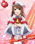 brown_hair character_name christmas dress green_eyes hat idolmaster idolmaster_side-m long_hair mizushima_saki