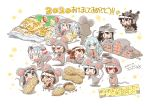>_< 2020 6+girls akatsuki_(kantai_collection) alternate_costume amatsukaze_(kantai_collection) animal_costume black_hair blue_eyes blue_hair brown_hair cheese chibi chinese_zodiac closed_eyes dated dressing eating flat_cap folded_ponytail food fubuki_(kantai_collection) hair_ornament hairclip hat headgear hibiki_(kantai_collection) highres ikazuchi_(kantai_collection) inazuma_(kantai_collection) kantai_collection long_hair moroyan mouse_costume multiple_girls mutsuki_(kantai_collection) nagato_(kantai_collection) new_year peanut pleated_skirt redhead samidare_(kantai_collection) signature silver_hair skirt smokestack_hair_ornament suzukaze_(kantai_collection) tokitsukaze_(kantai_collection) white_skirt year_of_the_rat yukikaze_(kantai_collection) |_|