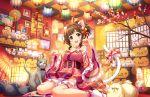 blush brown_hair dress green_eyes idolmaster_cinderella_girls_starlight_stage maekawa_miku short_hair smile