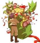 box cacnea carnivine chimecho christmas gift gift_box highres inkay kojirou_(pokemon) mareanie mime_jr. pokemon pokemon_(anime) pokemon_(creature) sski0 victreebel weezing yamask
