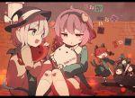 4girls animal_ears braid cat_ears cat_tail hat kaenbyou_rin komeiji_koishi komeiji_satori multiple_girls multiple_tails pink_hair redhead reiuji_utsuho tagme tail third_eye touhou twin_braids