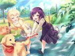 bang_dream! blush dress purple_hair red_eyes seta_kaoru short_hair smile