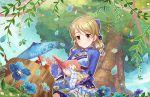blush brown_eyes brown_hair dress idolmaster_cinderella_girls_starlight_stage morikubo_nono short_hair smile