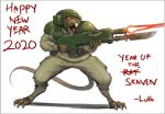 1boy assault_rifle bayonet chinese_zodiac claws energy_gun gun helmet imperial_guard laser laser_rifle lutherniel military military_uniform rat rat_tail rifle skaven solo tail teeth uniform warhammer_40k warhammer_fantasy weapon year_of_the_rat
