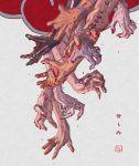 absurdres akatsuki_(naruto) black_nails blood bloody_hands character_request deidara dripping eva_(invisibleninja12) fingernails green_nails hand_mouth hands hidan highres hoshigaki_kisame jewelry kakuzu konan long_fingernails naruto naruto_(series) open_mouth orange_nails pain_(naruto) pink_nails purple_nails red_nails ring sasori teeth tongue tongue_out uchiha_itachi