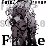 2boys copyright_name facial_scar fate/strange_fake fate_(series) hair_slicked_back high_contrast hood hoodie male_focus multiple_boys old_man pipe redoxhn scar scar_on_cheek scarf sigma_(fate/strange_fake) watcher_(fate/strange_fake)