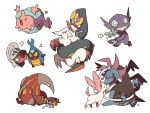 >_< ? angry beamed_eighth_notes carbink closed_eyes corsola creature dragon durant fangs gen_2_pokemon gen_3_pokemon gen_5_pokemon gen_6_pokemon gen_7_pokemon grin heart heatmor holding holding_pokemon hydreigon karrablast mareanie musical_note no_humans open_mouth pokemon pokemon_(creature) ribbon sableye seviper sharp_teeth shelmet simple_background smile spoken_question_mark ssalbulre sweat sweatdrop sylveon teeth white_background zangoose