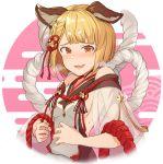 1girl animal_ears black_legwear dog_ears dog_girl erune granblue_fantasy hinami_(hinatamizu) pantyhose rope shimenawa sideless_outfit vajra_(granblue_fantasy)