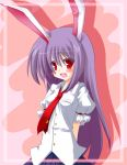 blush bunny_ears fuji_tooya fuji_toya long_hair purple_hair rabbit_ears reisen_udongein_inaba shirt touhou