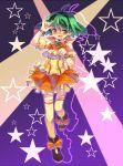 bad_id dadami green_hair legs macross macross_frontier microphone ranka_lee seikan_hikou short_hair thighhighs