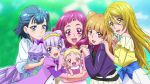 6+girls aisaki_emiru blonde_hair blue_eyes blue_hair brown_hair hug-tan_(precure) hugtto!_precure kagayaki_homare long_hair multiple_girls nono_hana pink_eyes pink_hair precure purple_hair ruru_amour short_hair violet_eyes yakushiji_saaya yellow_eyes