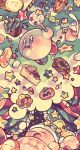 cake candy cup curtains dreaming food kirby kirby's_dream_land kirby_(series) lollipop maru_(umc_a) maxim_tomato no_humans popsicle sleeping star thought_bubble