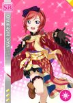 blush character_name dress love_live!_school_idol_festival love_live!_school_idol_project nishikino_maki redhead short_hair smile violet_eyes yukata