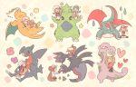 6+girls blue_(pokemon) crystal_(pokemon) dragon gloves haruka_(pokemon) highres hikari_(pokemon) kotone_(pokemon) maru_(umc_a) mei_(pokemon) multiple_girls pokemon pokemon_(game) pokemon_bw1 pokemon_bw2 pokemon_dppt pokemon_frlg pokemon_gsc pokemon_hgss pokemon_rse pokemon_xy serena_(pokemon) touko_(pokemon)