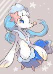 blue_eyes creature full_body gen_7_pokemon light_blue_hair no_humans pokemon pokemon_(creature) primarina solo tansho