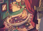 aegislash bath bathtub closed_eyes creature gen_6_pokemon gourgeist indoors maru_(umc_a) mirror pokemon pokemon_(creature) shelf