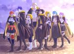 4boys 4girls belt blonde_hair blue_hair blue_legwear boots braid brown_eyes brown_hair claude_von_riegan cloak closed_eyes closed_mouth crown_braid fire_emblem fire_emblem:_three_houses from_side garreg_mach_monastery_uniform glasses gloves green_eyes green_hair hands_clasped high_heel_boots high_heels hilda_valentine_goneril hood hood_down hood_up ignatz_victor knee_boots leonie_pinelli lisknil long_hair long_sleeves lorenz_hellman_gloucester lysithea_von_ordelia marianne_von_edmund multiple_boys multiple_girls open_mouth orange_eyes orange_hair own_hands_together pink_eyes pink_hair purple_hair raphael_kirsten short_hair twintails uniform violet_eyes white_gloves white_hair