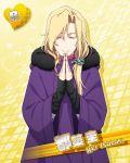 blonde_hair character_name closed_eyes idolmaster idolmaster_side-m jacket long_hair praying tsuzuki_kei